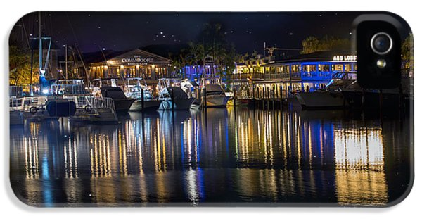 Harborfront iPhone 5 Cases - Old Town Harbor Key West under a night sky iPhone 5 Case by Juli Scalzi