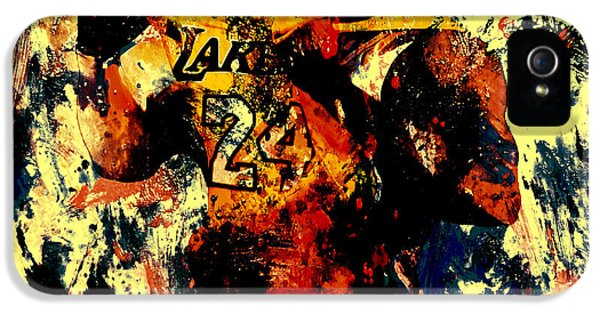 Kobe Bryant In A Zone IPhone 5 / 5s Case by Brian Reaves