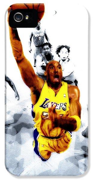 Kobe Bryant Took Flight IPhone 5 / 5s Case by Brian Reaves