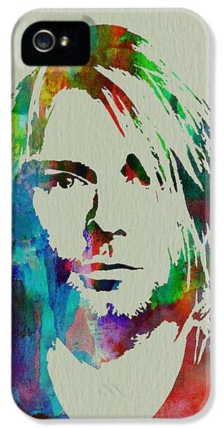 Musician Art iPhone 5 Cases - Kurt Cobain Nirvana iPhone 5 Case by Naxart Studio