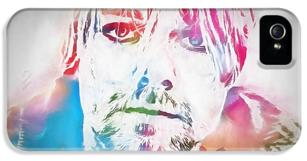 Dave Grohl iPhone 5 Cases - Kurt Cobain Watercolor iPhone 5 Case by Dan Sproul