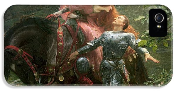 Romantic iPhone 5 Cases - La Belle Dame Sans Merci iPhone 5 Case by Sir Frank Dicksee