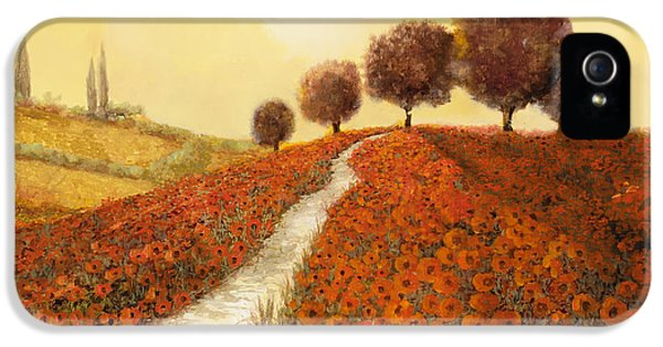 La Collina Dei Papaveri IPhone 5 / 5s Case by Guido Borelli
