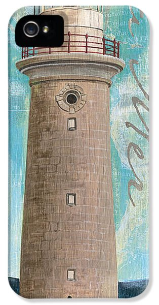 Lighthouse iPhone 5 Cases - La Mer Lighthouse iPhone 5 Case by Debbie DeWitt