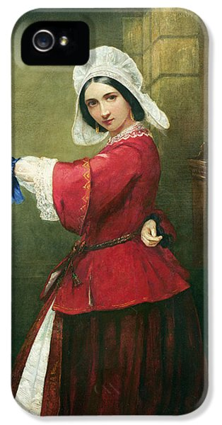 Striking iPhone 5 Cases - Lady in French Costume iPhone 5 Case by Edmund Harris Harden