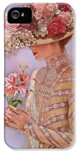 Hat iPhone 5 Cases - Lady Jessica iPhone 5 Case by Sue Halstenberg