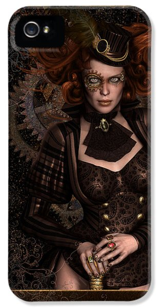 Steam-punk iPhone 5 Cases - Lady Steampunk iPhone 5 Case by Shanina Conway