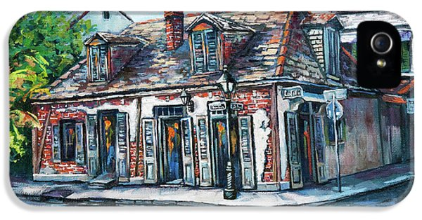 Street Scene iPhone 5 Cases - Lafittes Blacksmith Shop iPhone 5 Case by Dianne Parks