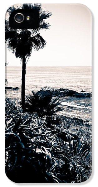 Orange County iPhone 5 Cases - Laguna Beach California Black and White iPhone 5 Case by Paul Velgos