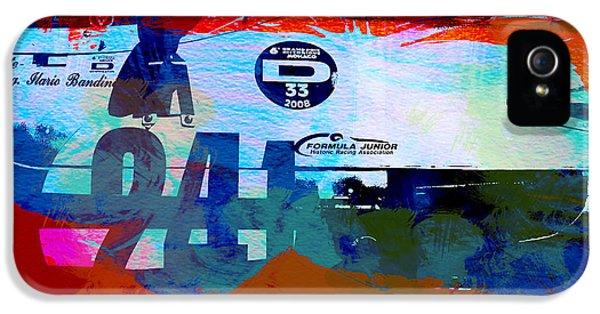 Concept Cars iPhone 5 Cases - Laguna Seca Racing Cars 1 iPhone 5 Case by Naxart Studio