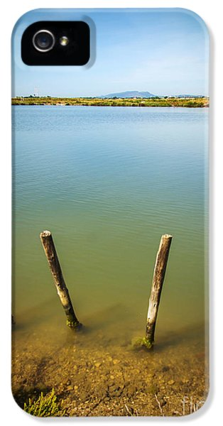 Poles iPhone 5 Cases - Lake and Poles iPhone 5 Case by Carlos Caetano