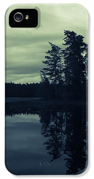 Skyscapes iPhone 5 Cases - Lake by Night iPhone 5 Case by Nicklas Gustafsson