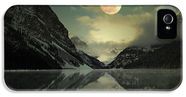 Lake Louise Moon Glow IPhone 5 / 5s Case by Andrea Hazel Ihlefeld