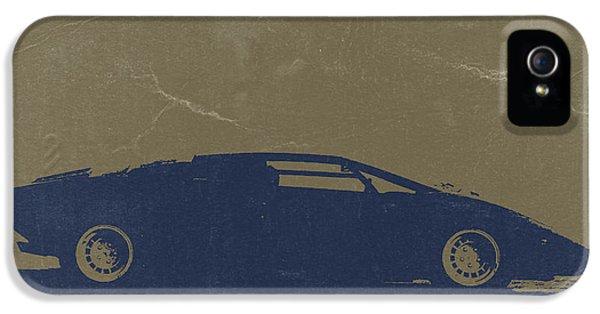 European Cars iPhone 5 Cases - Lamborghini Countach iPhone 5 Case by Naxart Studio