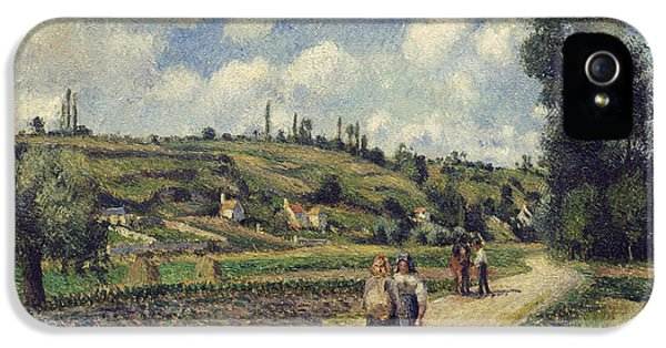Road iPhone 5 Cases - Landscape near Pontoise iPhone 5 Case by Camille Pissarro