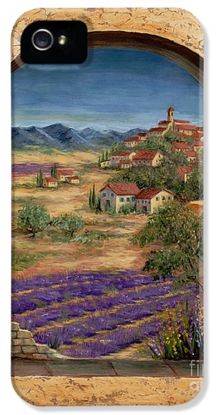 Lavender Fields And Village Of Provence IPhone 5 / 5s Case by Marilyn Dunlap