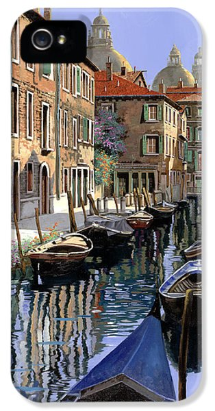 Toronto iPhone 5 Cases - Le Barche Sul Canale iPhone 5 Case by Guido Borelli