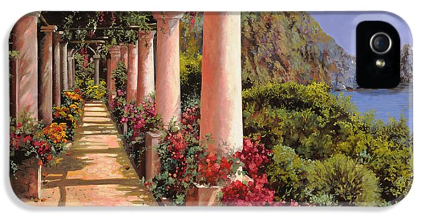 Romantic iPhone 5 Cases - Le Colonne E La Buganville iPhone 5 Case by Guido Borelli