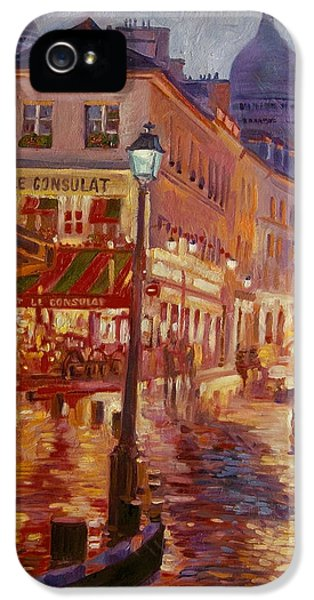 Street Scene iPhone 5 Cases - Le Consulate Montmartre iPhone 5 Case by David Lloyd Glover