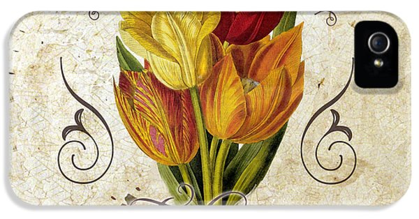 Tulips iPhone 5 Cases - Le Jardin Tulipes iPhone 5 Case by Mindy Sommers