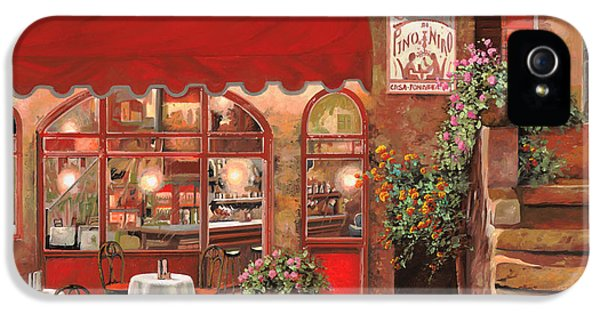 Cafe iPhone 5 Cases - Le Rendez Vous iPhone 5 Case by Guido Borelli