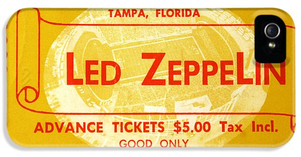 Led Zeppelin Ticket IPhone 5 / 5s Case by David Lee Thompson