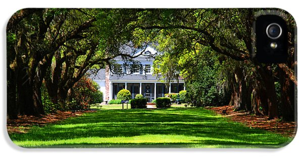 Historic Oak iPhone 5 Cases - Legare Waring House Charleston SC iPhone 5 Case by Susanne Van Hulst