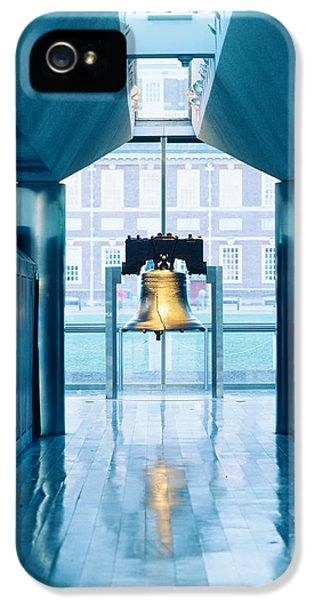 Social History iPhone 5 Cases - Liberty Bell Hanging In A Corridor iPhone 5 Case by Panoramic Images