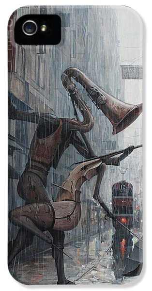 Life Is  Dance In The Rain IPhone 5 / 5s Case by Adrian Borda