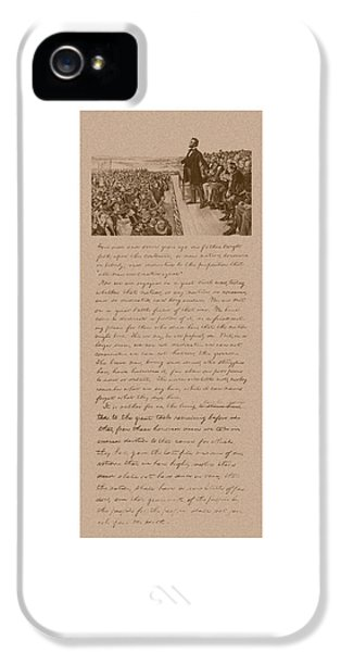 Gettysburg Address iPhone 5 Cases - Lincoln and The Gettysburg Address iPhone 5 Case by War Is Hell Store
