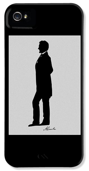 Abraham Lincoln iPhone 5 Cases - Lincoln Silhouette and Signature iPhone 5 Case by War Is Hell Store