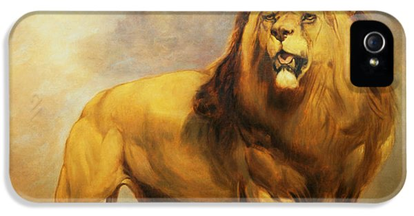 Lion iPhone 5 Cases - Lion  iPhone 5 Case by William Huggins
