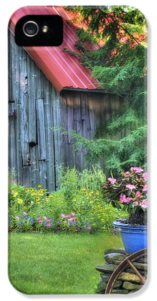 Charming iPhone 5 Cases - Litchfield Hills Summer Scene iPhone 5 Case by Thomas Schoeller
