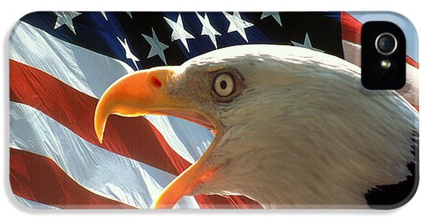 Flags iPhone 5 Cases - Live Free or Die iPhone 5 Case by Carl Purcell