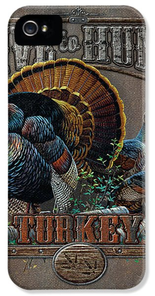 Hunting iPhone 5 Cases - Live to Hunt Turkey iPhone 5 Case by JQ Licensing