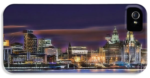 Liverpool England Skyline IPhone 5 / 5s Case by Marvin Blaine