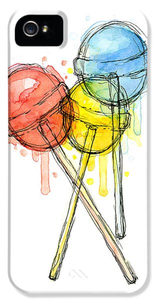 Lollipop Candy Watercolor IPhone 5 / 5s Case by Olga Shvartsur