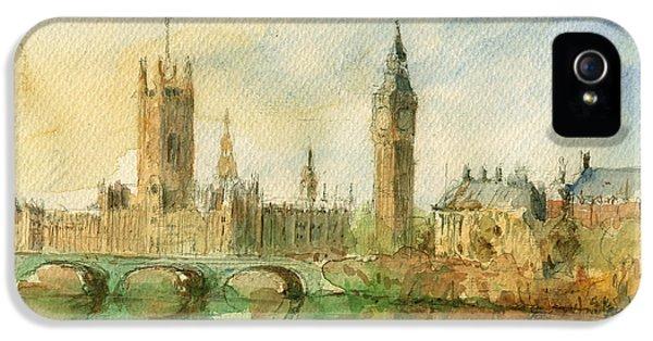 London Parliament IPhone 5 / 5s Case by Juan  Bosco