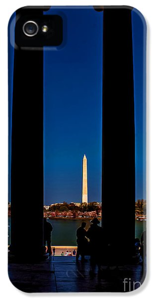 District Columbia iPhone 5 Cases - Looking out from the Jefferson Memorial iPhone 5 Case by Nick Zelinsky