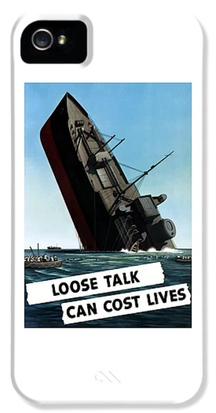 Ship iPhone 5 Cases - Loose Talk Can Cost Lives iPhone 5 Case by War Is Hell Store
