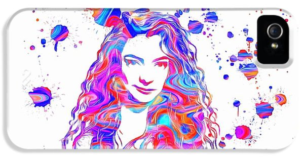 The Dream Team iPhone 5 Cases - Lorde Colorful Paint Splatter iPhone 5 Case by Dan Sproul