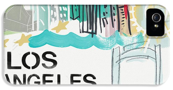 Los Angeles Cityscape- Art By Linda Woods IPhone 5 / 5s Case by Linda Woods