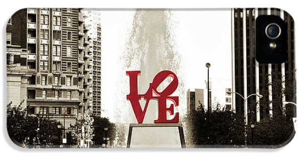 Philadelphia iPhone 5 Cases - Love in Philadelphia iPhone 5 Case by Bill Cannon