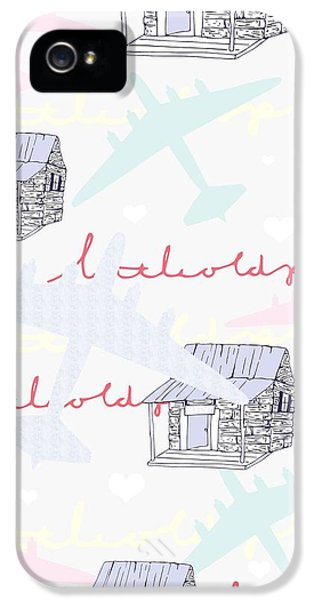 Airplane iPhone 5 Cases - Love Shack iPhone 5 Case by Beth Travers