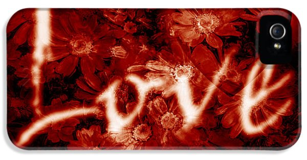 Romantic iPhone 5 Cases - Love with Flowers iPhone 5 Case by Phill Petrovic