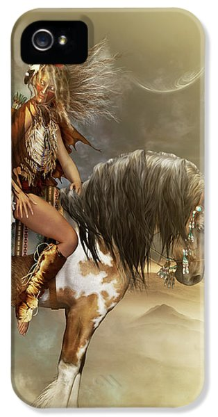 Native American Woman iPhone 5 Cases - Lozen iPhone 5 Case by Shanina Conway