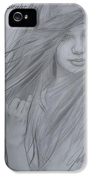 Maddie iPhone 5 Cases - Maddie Ziegler iPhone 5 Case by John Reynaga