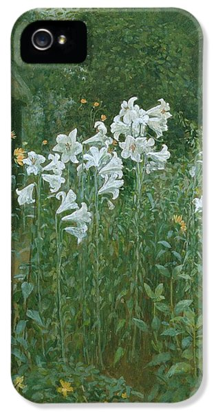 Madonna Lilies In A Garden IPhone 5 / 5s Case by Walter Crane