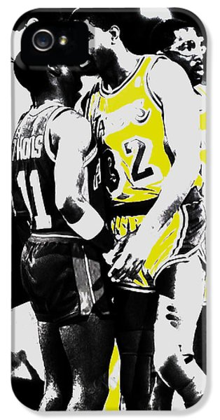 Magic Johnson And Isiah Thomas IPhone 5 / 5s Case by Brian Reaves