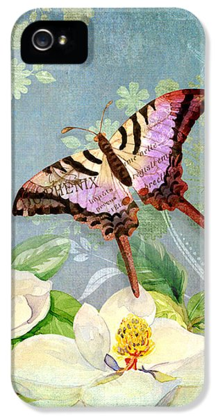 Swallowtail iPhone 5 Cases - Magnolia Dreams  iPhone 5 Case by Audrey Jeanne Roberts